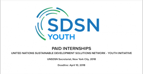 Internships at UN Sustainable Development Solutions Network Youth in USA