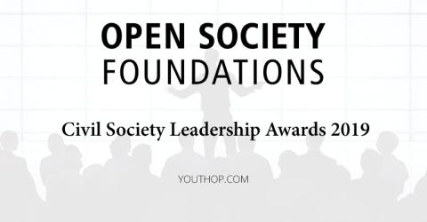 Open Society Foundations Civil Society Leadership Awards 2019