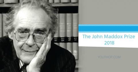 The John Maddox Prize 2018
