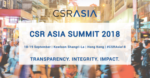 CSR Asia Summit 2018 in Hong Kong