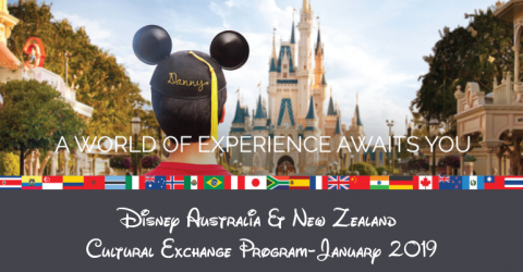 Disney Australia & New Zealand Cultural Exchange Program (January 2019)