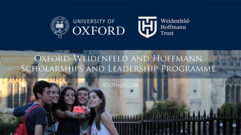 The Oxford-Weidenfeld and Hoffman Scholarship and Leadership Programme 2019 in UK