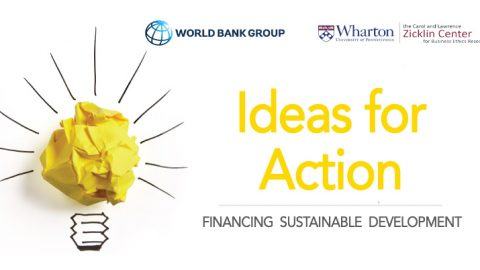 The World Bank/Wharton School Ideas for Action Competition 2019