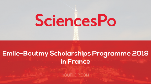 Emile-Boutmy Scholarships Programme at Sciences Po 2019 in France