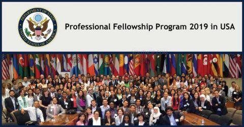 U.S. State Department Professional Fellowship Program 2019 in USA
