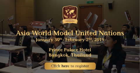 Asia World Model United Nations II 2019 in Bangkok, Thailand