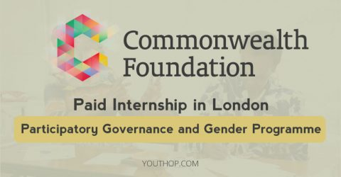 Commonwealth Foundation Participatory Governance and Gender Internship 2018 in UK
