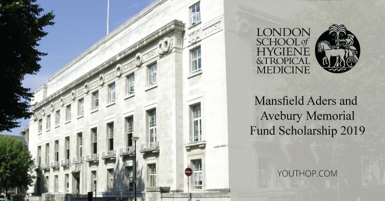 2019-20 Mansfield Aders and Avebury Memorial Fund Scholarship in UK