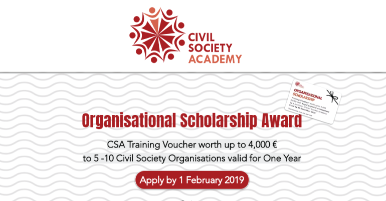 2019 Civil Society Academy Organisational Scholarship Award