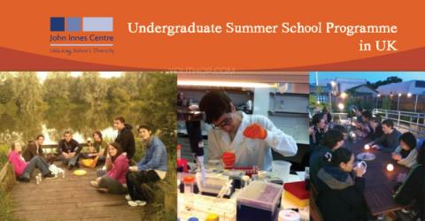 John Innes Centre 2019 Undergraduate Summer School Programme in UK