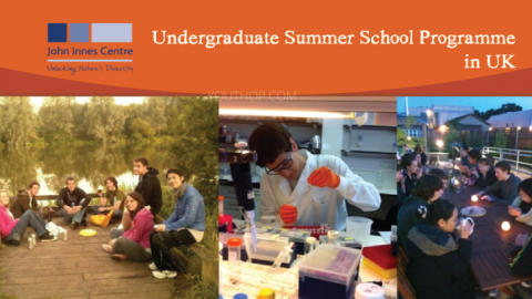 John Innes Centre 2019 Undergraduate Summer School Programme in UK
