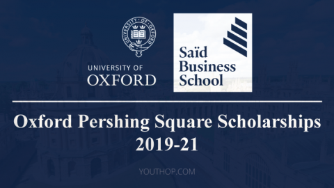Oxford Pershing Square Scholarships 2019-21 at University of Oxford