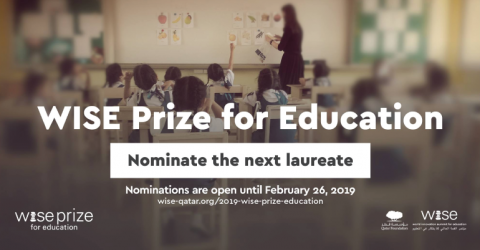 The WISE Prize for Education 2019- US $500,000 Funds