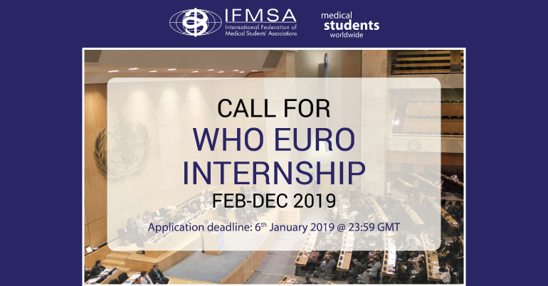 WHO Euro Internships 2019 at WHO HQ in Denmark