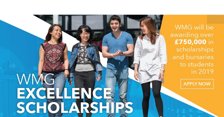 WMG Excellence Scholarship 2019 in UK