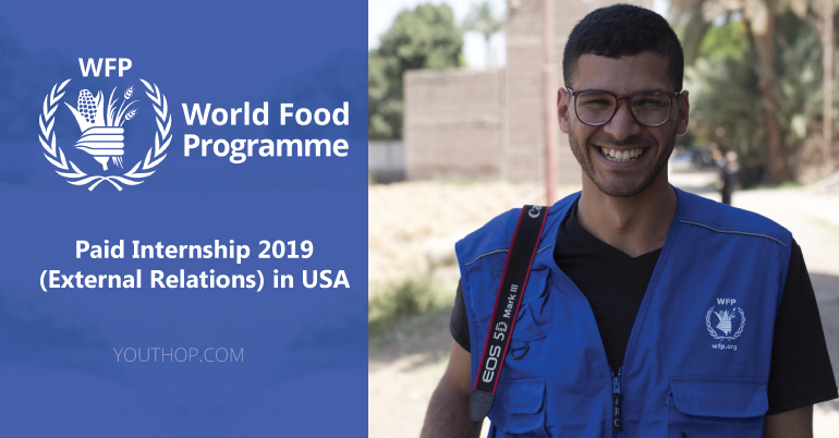 World Food Programme- WFP Internship 2019 (External Relations) in USA