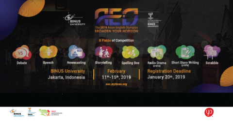 The 2019 Asian English Olympics in Indonesia