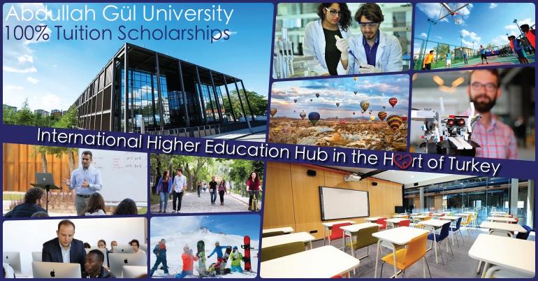 2019 Undergraduate Student Tuition Scholarship at Abdullah Gül University, Turkey