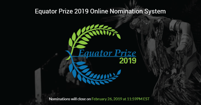 Equator Prize 2019 (Receive USD 10,000)
