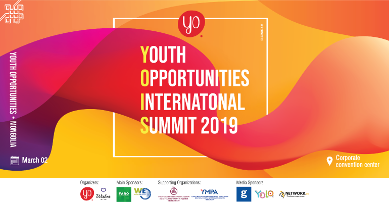 Youth Opportunities International Summit 2019 in Mongolia
