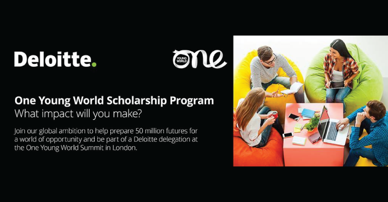 Deloitte Scholarships to Attend The One Young World 2019 in London