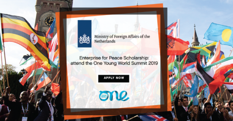 Dutch MFA Enterprise for Peace Scholarships to Attend The One Young World 2019 in London