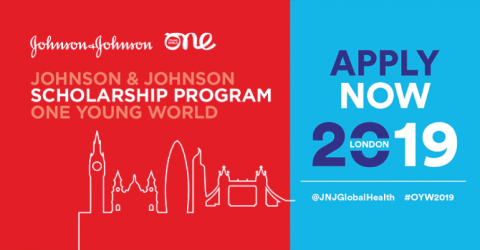 Johnson & Johnson Scholarships to Attend The One Young World 2019 in London