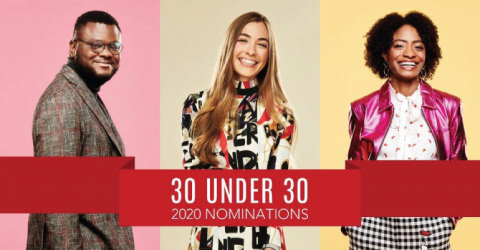 FORBES 30 Under 30 Nominations 2020 For US/Canada and Europe