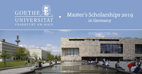 Goethe University Frankfurt Master's Scholarships 2019 in Germany