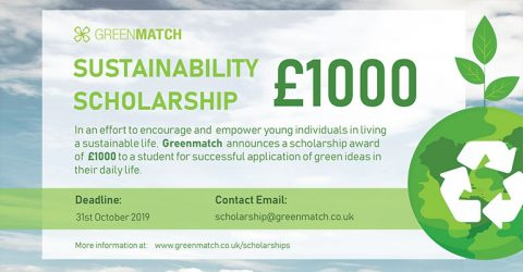 GreenMatch Sustainability Scholarship of £1000