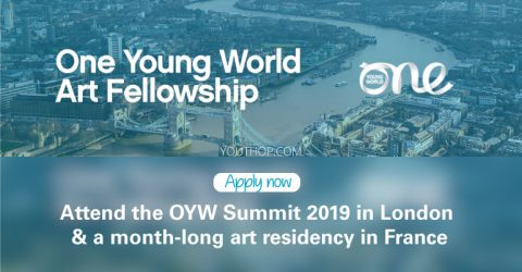 OYW Art Fellowship to Attend The One Young World Summit 2019 in London
