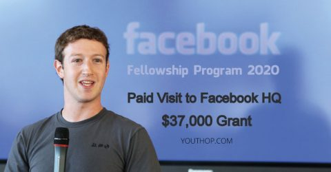 Facebook Fellowship Program 2020 (Receive $37K Grant & Visit Facebook HQ)