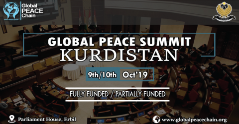 Global Peace Summit Kurdistan 2019 (Funds Available)