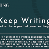 KEEP WRITING   Writing Contest 2019   Enlivening Emotions