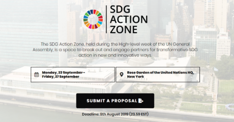 Call for Proposal: SDG Action Zone 2019 in USA