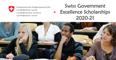 Swiss Government Excellence Scholarships 2020-21 for International Student