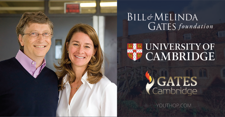 Gates Cambridge Scholarship Programme 2020 in University of Cambridge