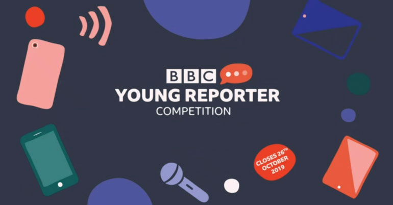 BBC Young Reporter Competition 2019 in UK