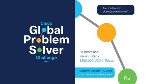 CISCO Global Problem Solver Challenge 2020 – $100,000 Grand Prize