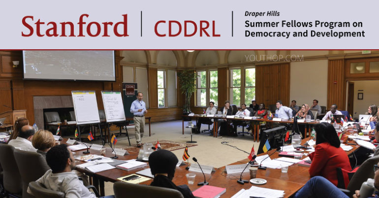 Draper Hills Summer Fellows Program 2020 at Stanford University