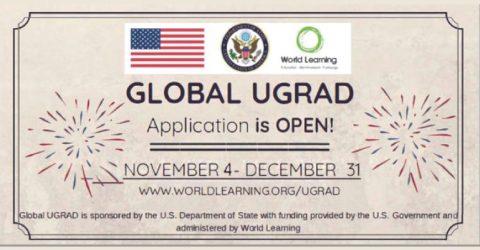 Global Undergraduate Exchange Program (Global UGRAD) 2020 in USA