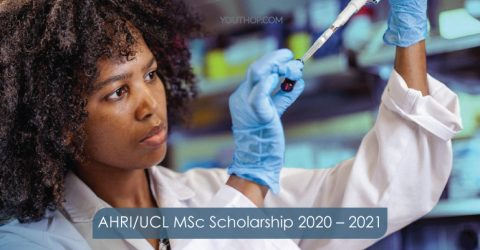 (Fully-Funded) AHRI/UCL MSc Scholarship 2020-2021