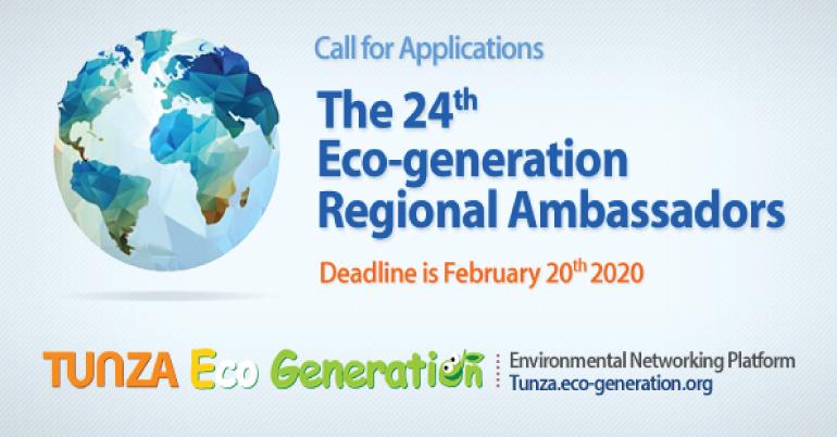 The 24th Eco-generation Regional Ambassadors