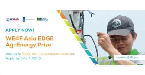 Water and Energy for Food (WE4F) Asia EDGE Ag-Energy Prize (Win $100,000)
