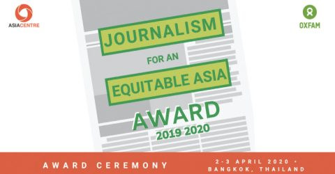 Journalism for an Equitable Asia Award 2019-2020 in Bangkok, Thailand