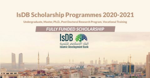 Islamic Development Bank Scholarship 2020 (Fully Funded)
