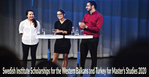 Swedish Institute Scholarships for the Western Balkans and Turkey for Master's Studies 2020