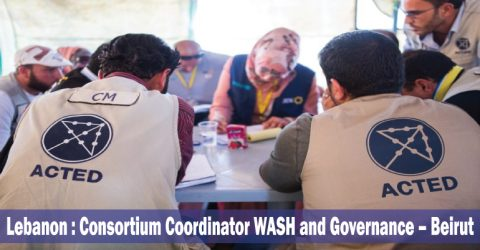 Consortium Coordinator WASH and Governance in Lebanon by ACTED