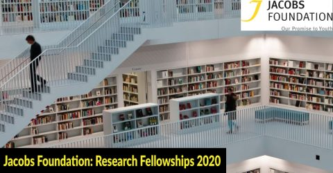 Jacobs Foundation: Research Fellowships 2020 (Total Value $225,000 – $600,000)