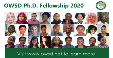 OWSD Ph.D. Fellowship 2020 (Fully Funded)